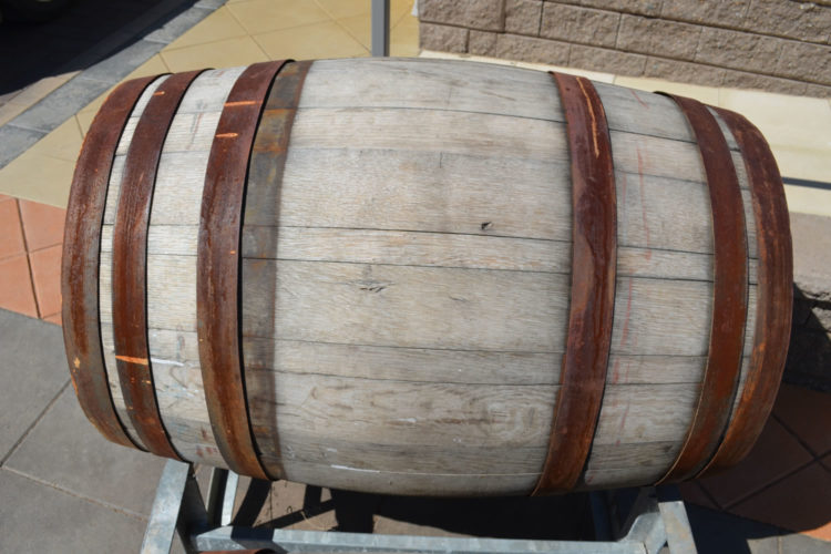 Our real oak wine barrels will last and age beautifully in your garden